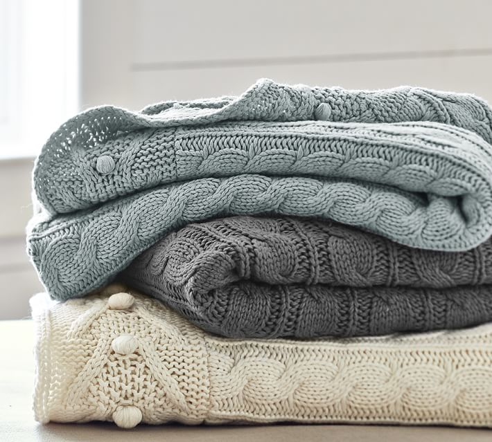Cable Knit Throws from  Pottery Barn