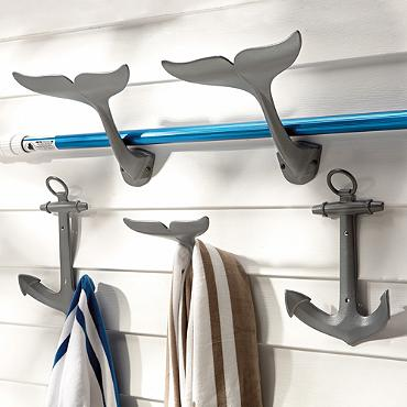 Anchor and Whale Tail Hooks from  Frontgate