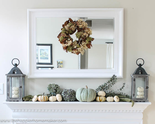 Autum Mantle from The Happier Homemaker and also seen on  Kirkland's Blog