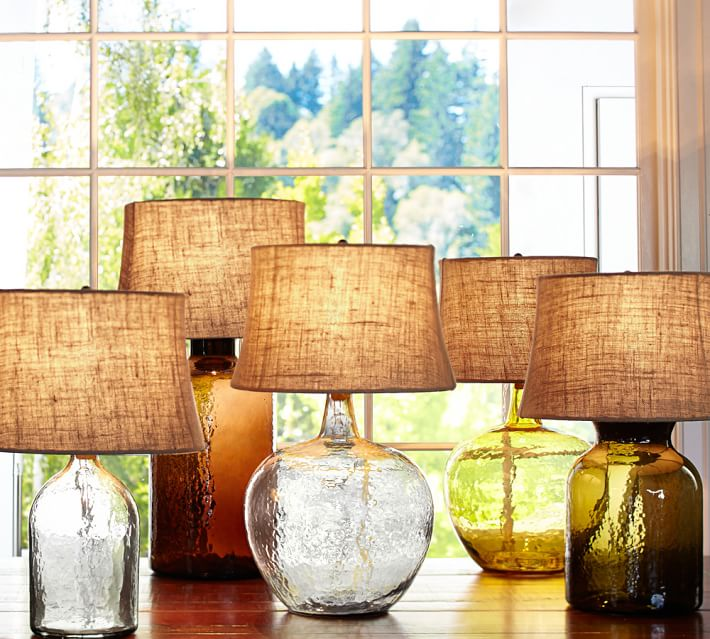 Clift Glass able Lamp Base - Amber from  Pottery Barn