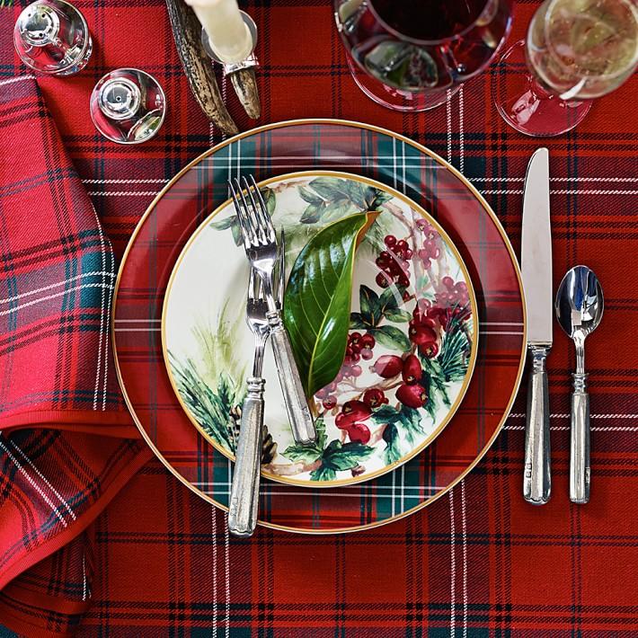 Tartan Dinner Plates  Williams-Sonoma