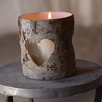 Personalized Birch Candle Holders