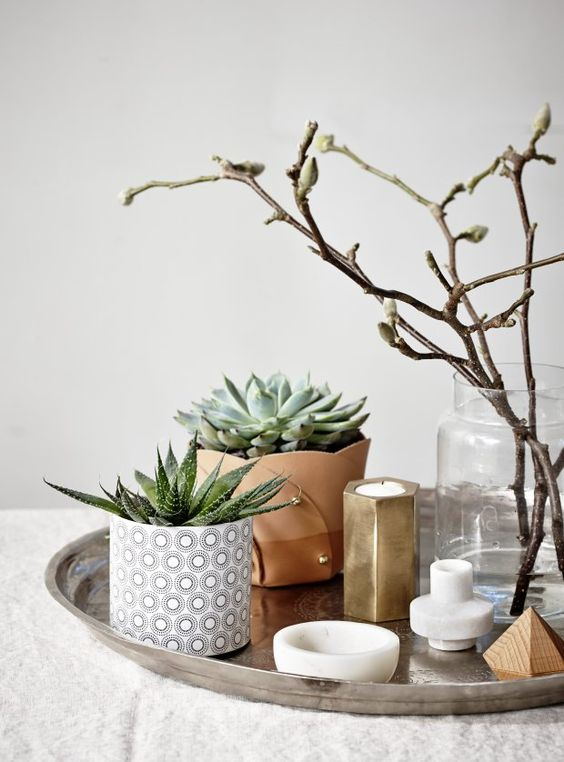 Add beautiful succulents. Seen on  KK.com