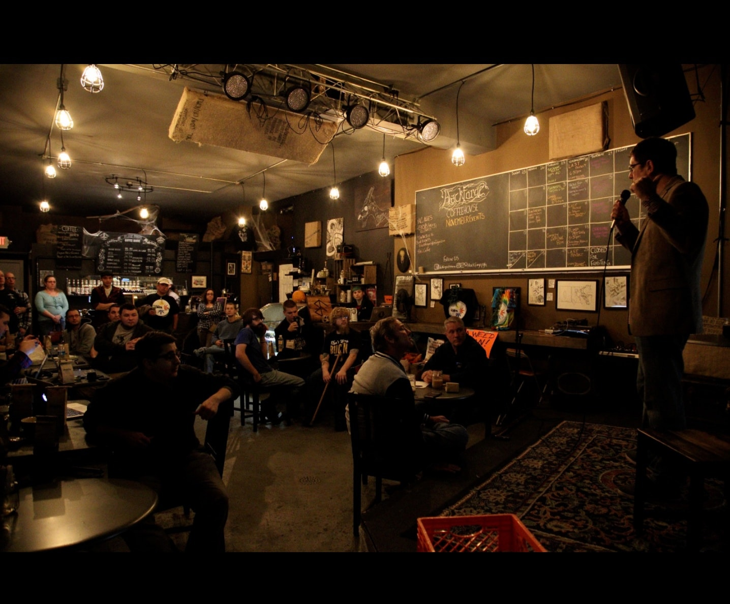 Allentown - Small intimate events such as poetry, open mics, acoustic/singer songwriter and meetings. Please check out our contact us if interested in booking.
