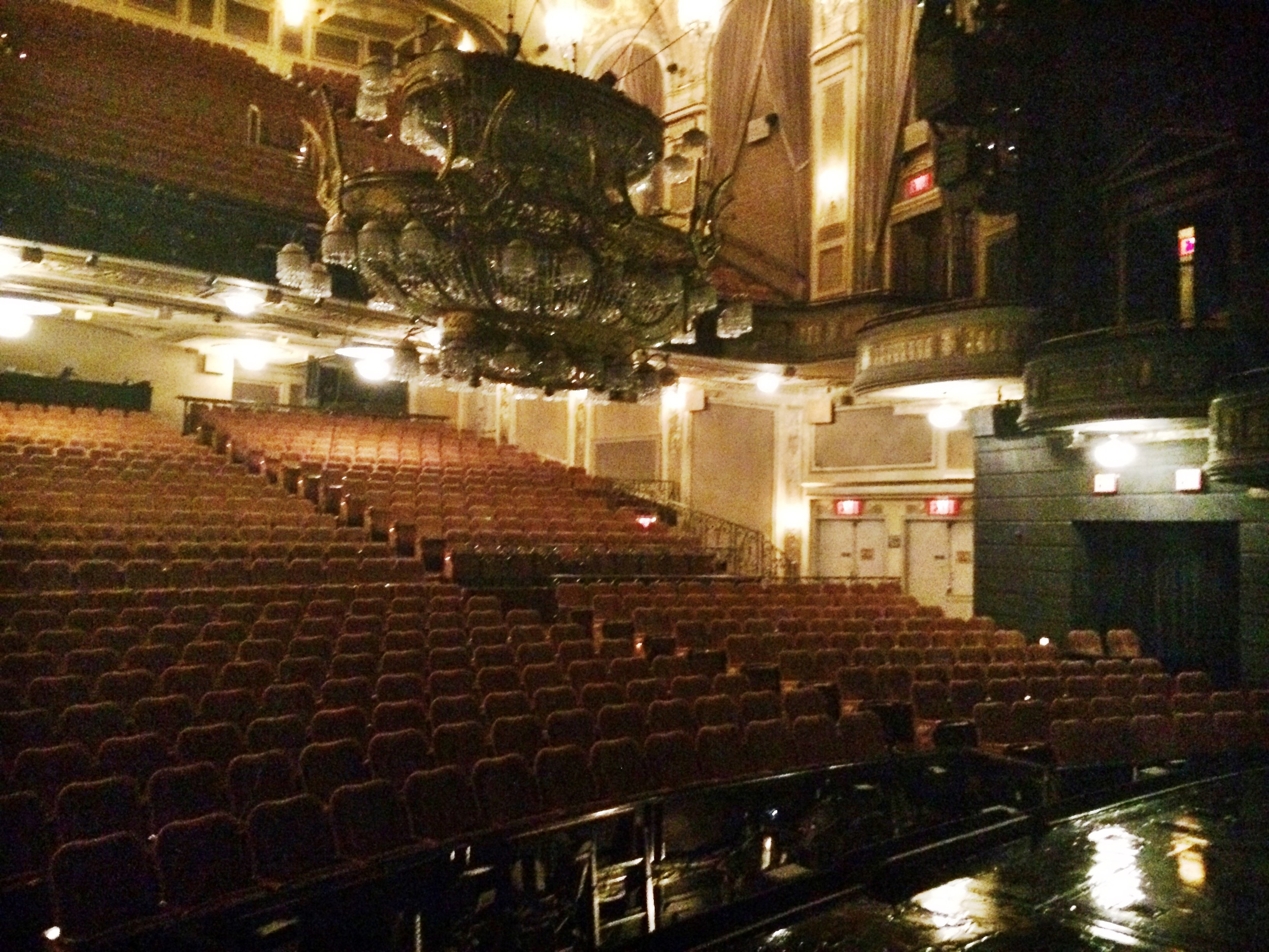 View from the stage; check out that amazing chandelier!