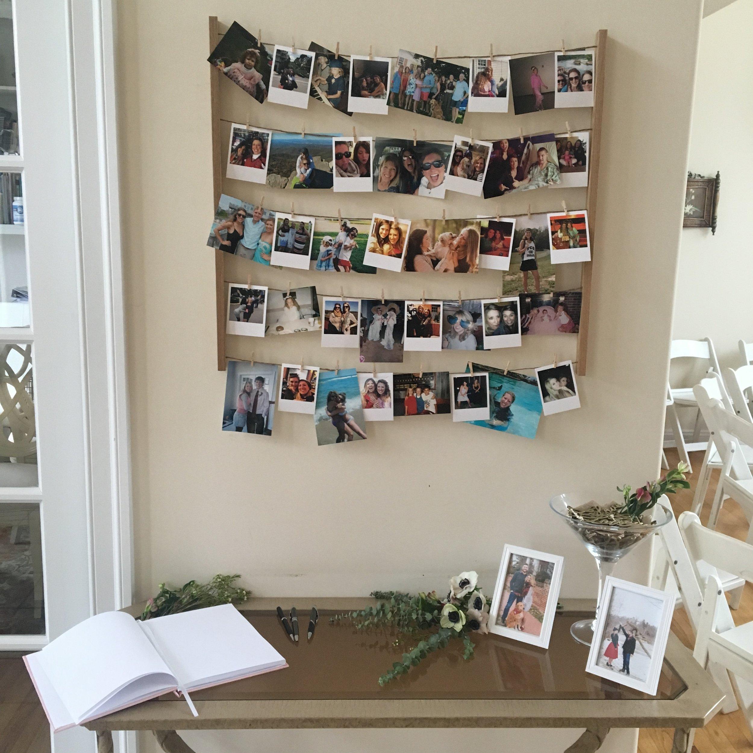 such a fun board of photo memories!