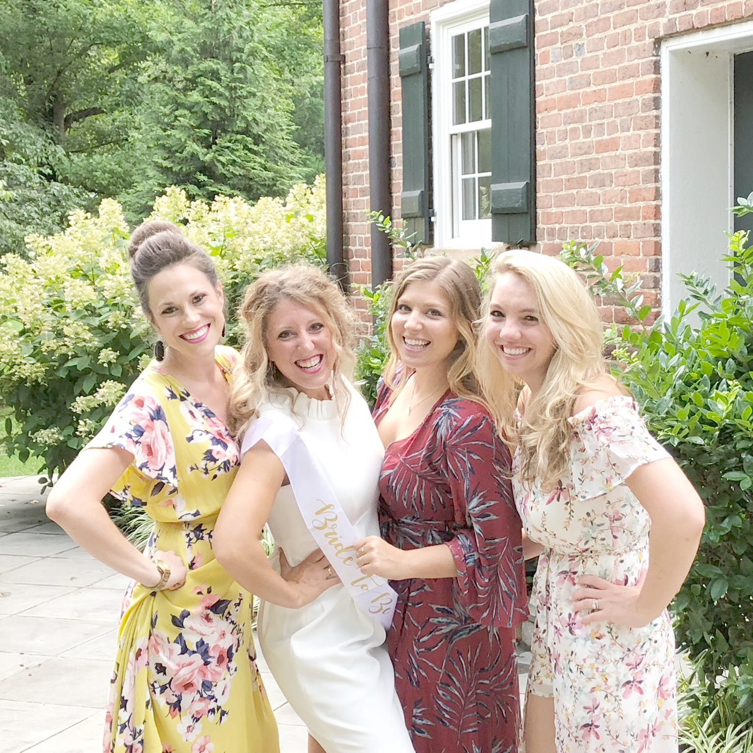 Whitney, a Bridesmaid, myself, Jeri, my maid of honor, and Courtney, A Bridesmaid