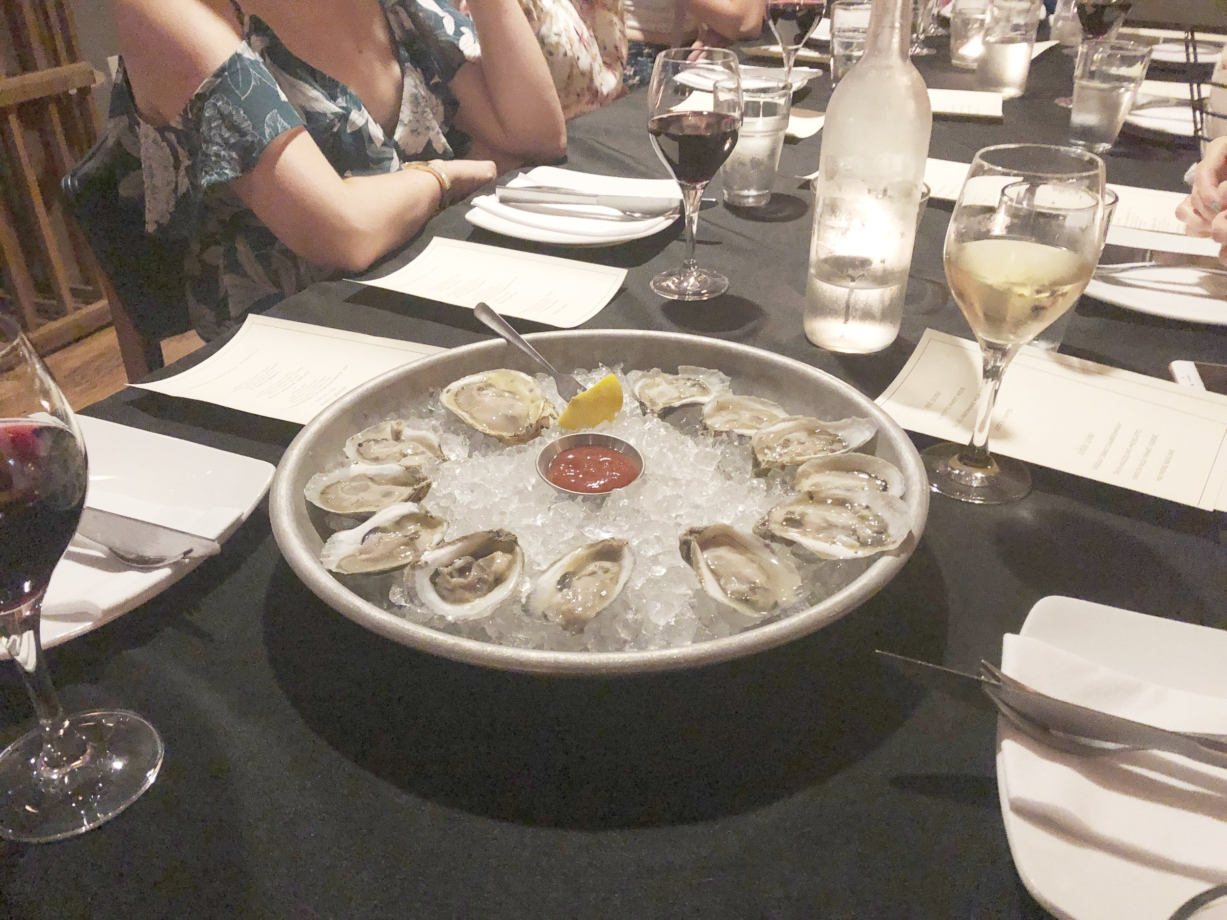 Of course we had to add an order of oysters because they are the BEST!
