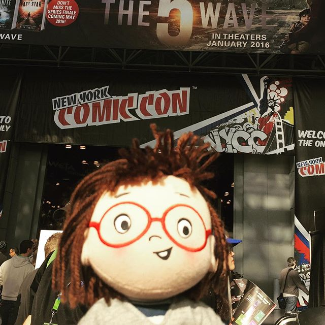 Louise will let you know later how she feels about this. #whereslouisenow #louiselovesart #nycc #nycc2015 #merrymakers