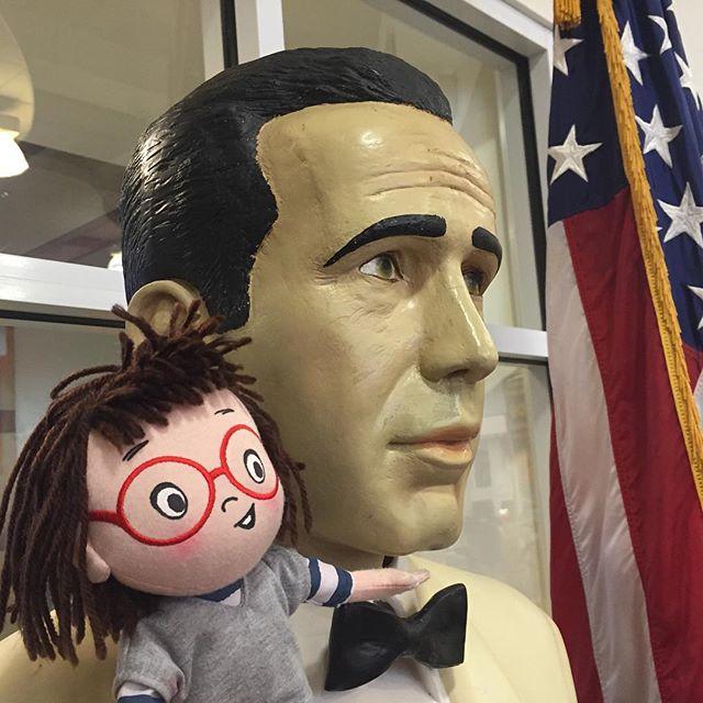 Louise loves Humphrey Bogart... He's here @ #nErDCampLi
