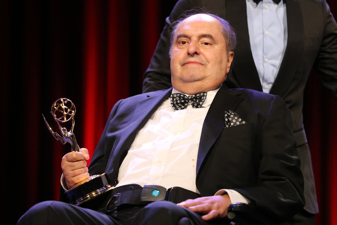 Leon H. Charney accepting a New York Emmy Award in 2014. Credit Neilson Barnard/Getty Images
