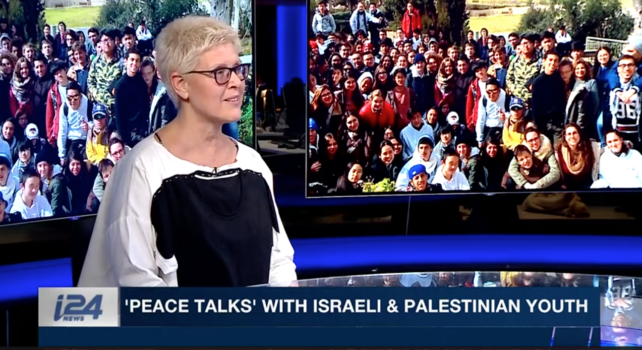 Tzili Charney Talks with   i24 News   about Charney Resolution Center Peace Talks Simulation