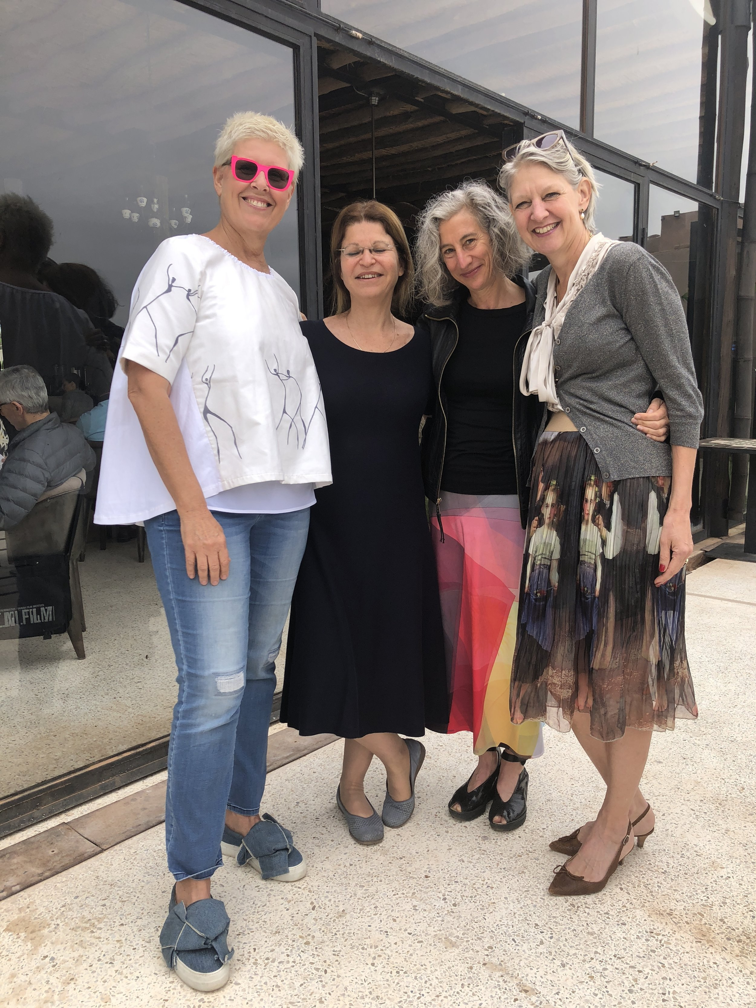 L-R: Tzili Charney, Dorit Inbar, NFCT Executive Director, Bruni Burres-producer & senior consultant, sundance institute, USA, Margje de Koning, Chief Commissioning Editor of documentaries EO, JDocs & IKONdocs
