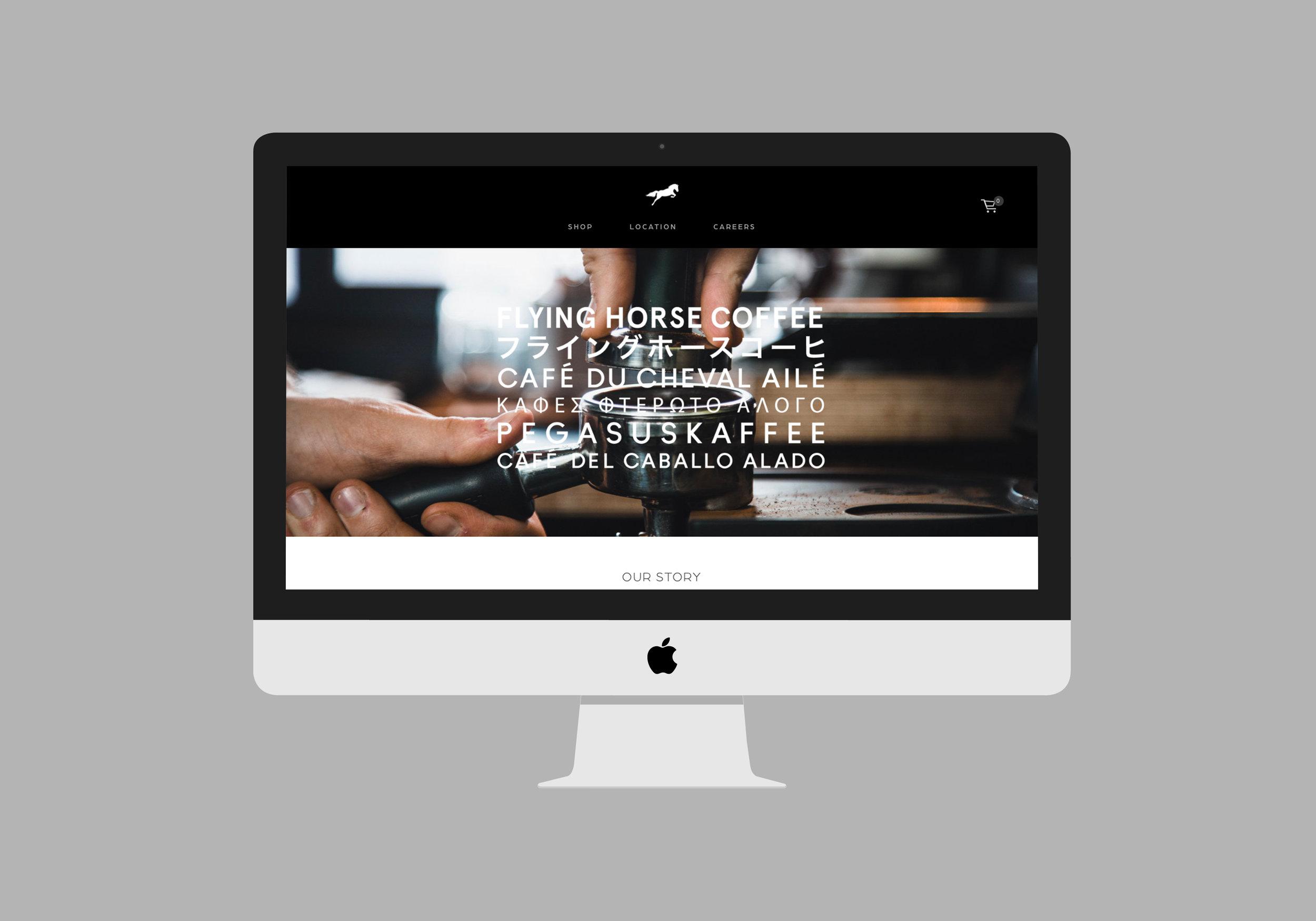 Flying Horse Coffee website