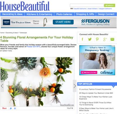 HOUSE BEAUTIFUL – DECEMBER 2014