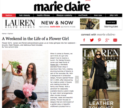 MARIE CLAIRE – NOVEMBER 2014