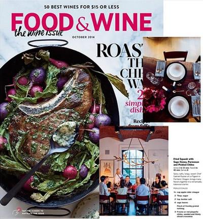 FOOD & WINE – OCTOBER 2014