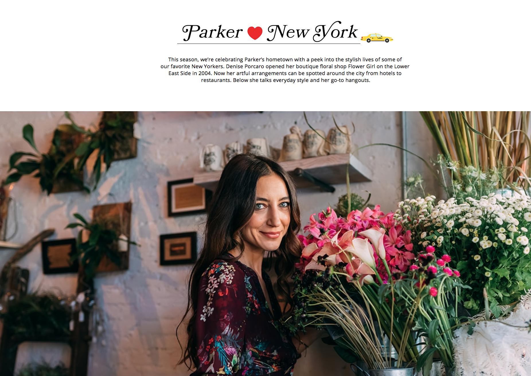 PARKER NEW YORK - SEPTEMBER 2018