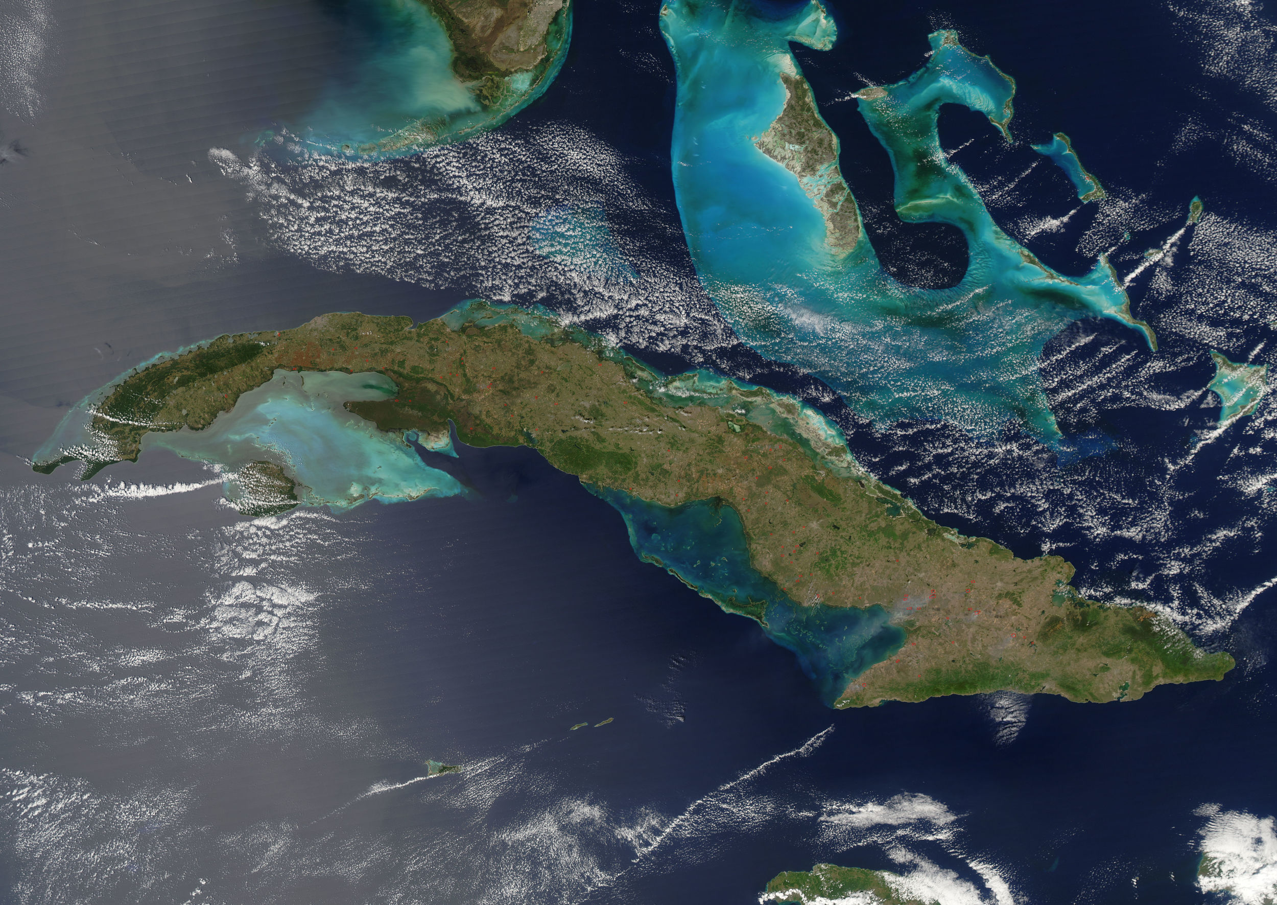 Cuba, the Bahamas, and Florida from space.  Photo: NASA