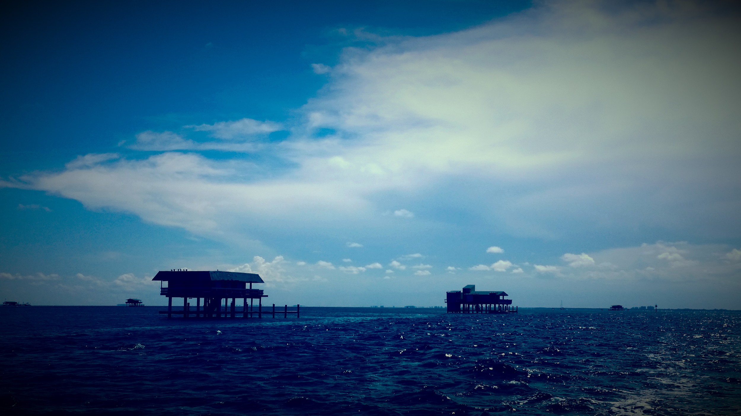 Stiltsville homes in Biscayne National Park.  Photo: Ryan Stoa.