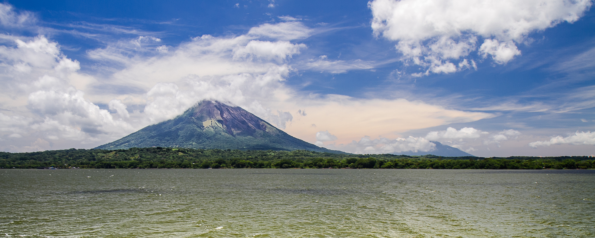 Ometepe, an island in Lake Nicaragua, lies just north of the proposed canal route.  Photo: David Armstrong.
