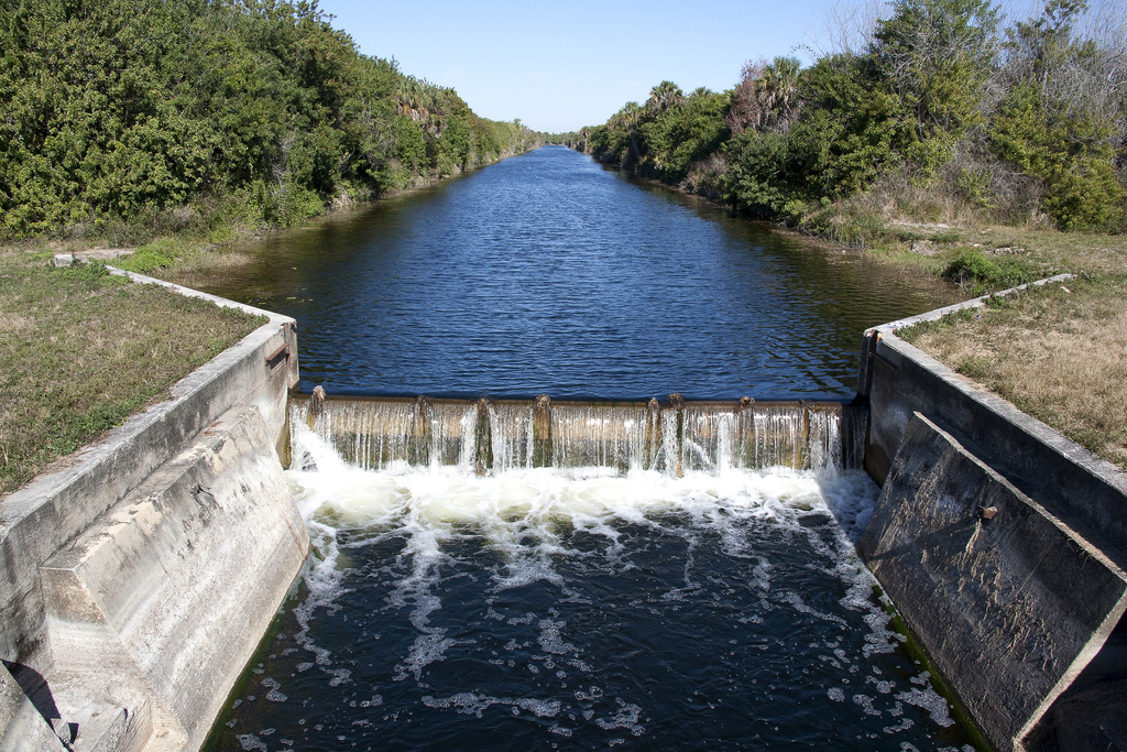 The Faka Union Canal in Florida drains water from the Big Cypress Swamp. Photo by JaxStrong.