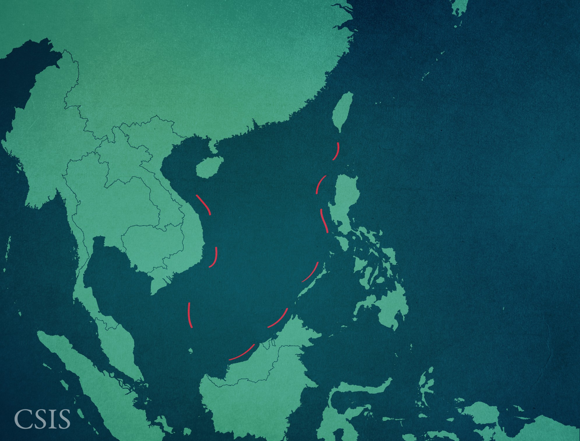 China's 9-Dash Line.  Image: Asia Maritime Transparency Initiative.