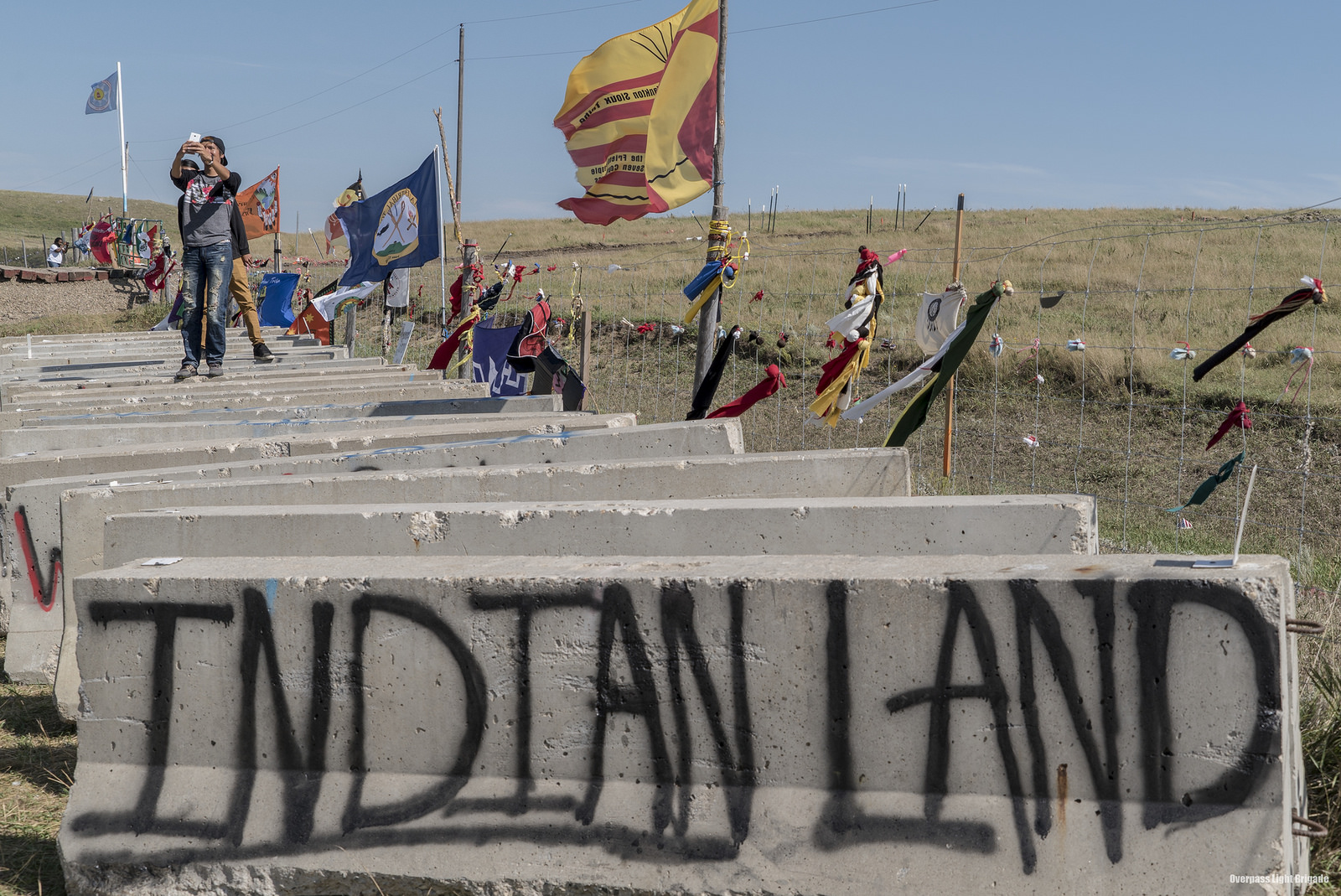 Sacred Stone Camp in North Dakota and the Standing Rock Sioux Reservation have become the staging area for protests along the proposed Dakota Access Pipeline route. Photo: Joe Brusky.