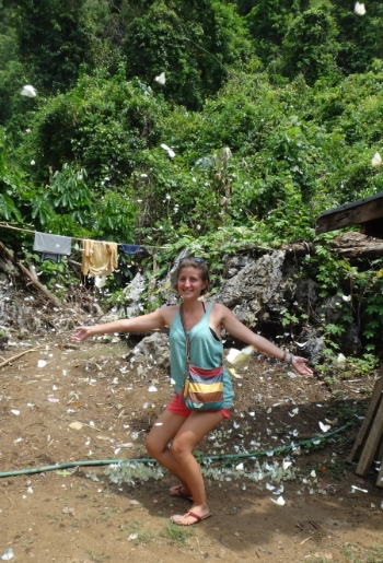 These white butterflies were everywhere in Laos! They make for B-E-A-U-tiful scenery.