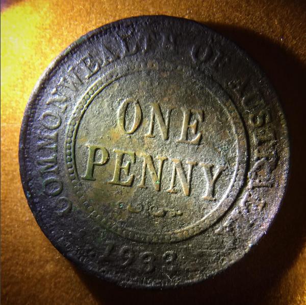 FOTM: Randy Dickerson found a 1933 Australian penny.