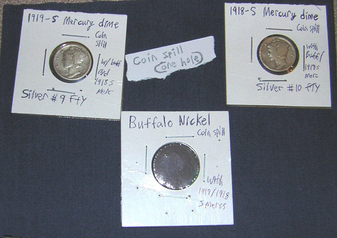 FOTM: Britain Lockhart found a coin spill with 2 mercury dimes and a buffalo nickel.