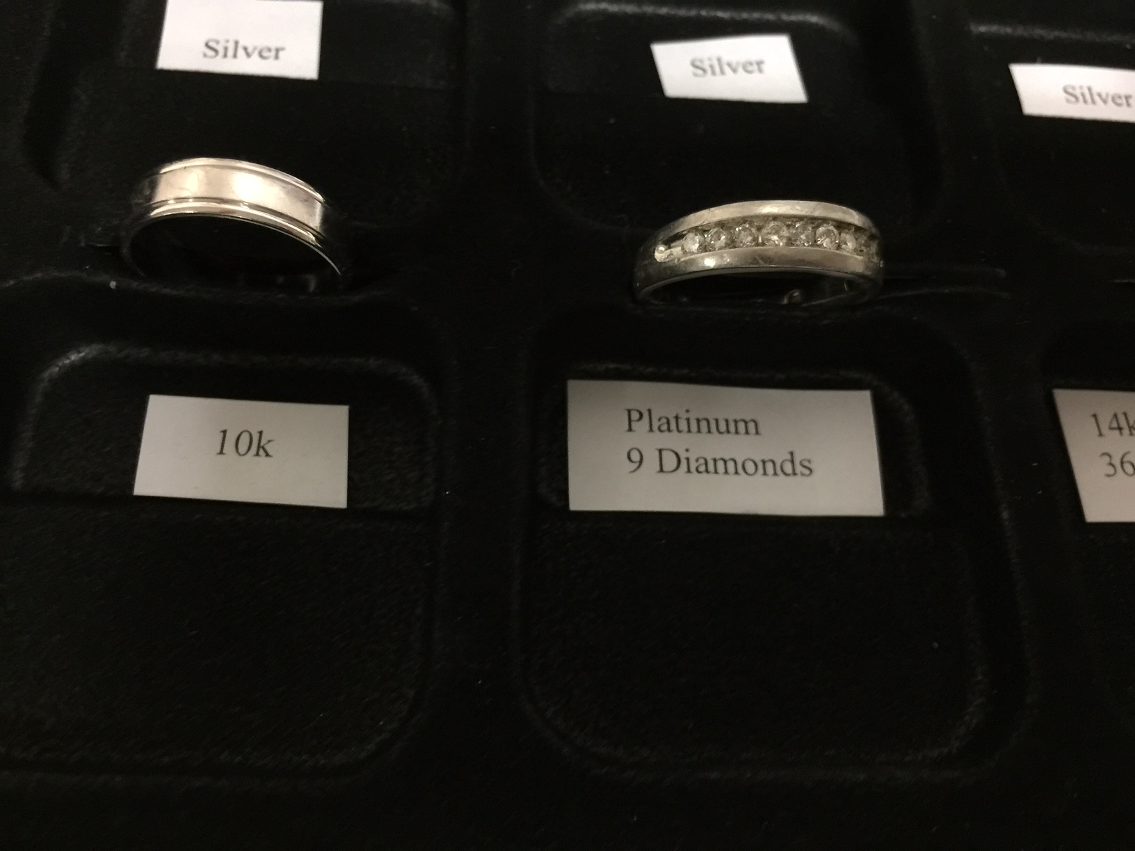 FOTM - Mel Parker - Platinum Ring with 9 Diamonds