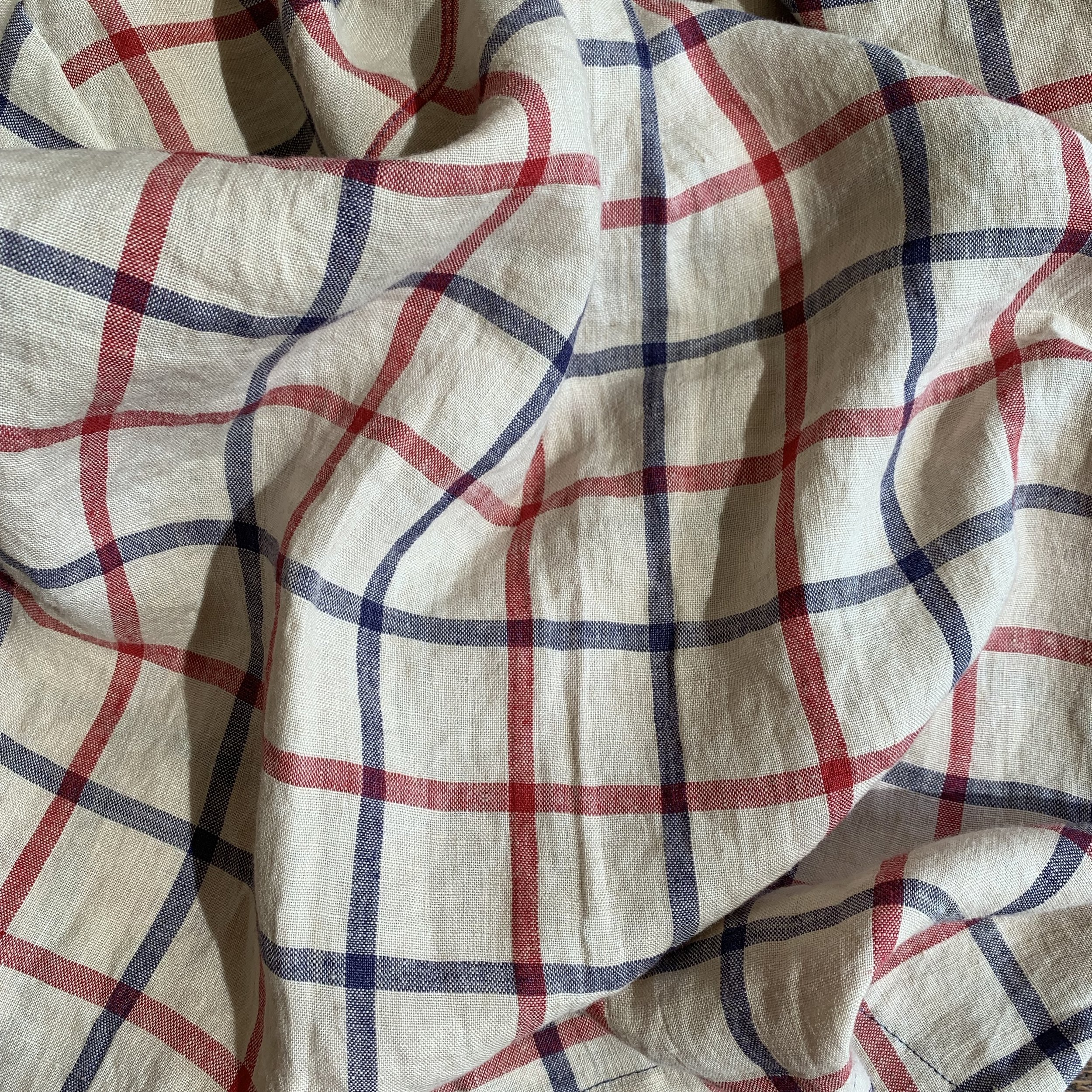 Our linen design arrives! After months of dreaming, sketching, designing, it is finally here.