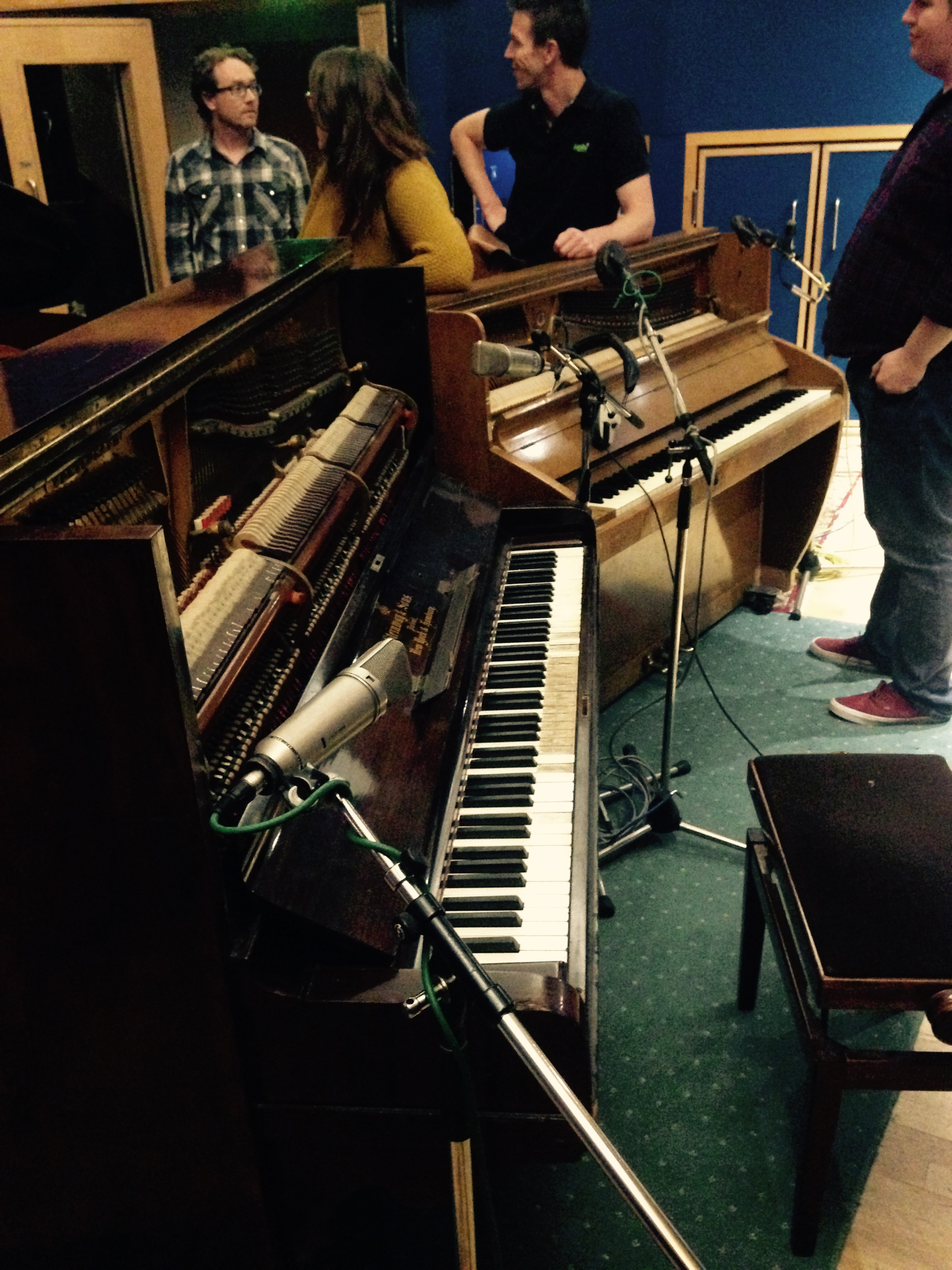 On the left is the Lady Madonna Piano, on the right is the Day In The Life piano. Had a go on both