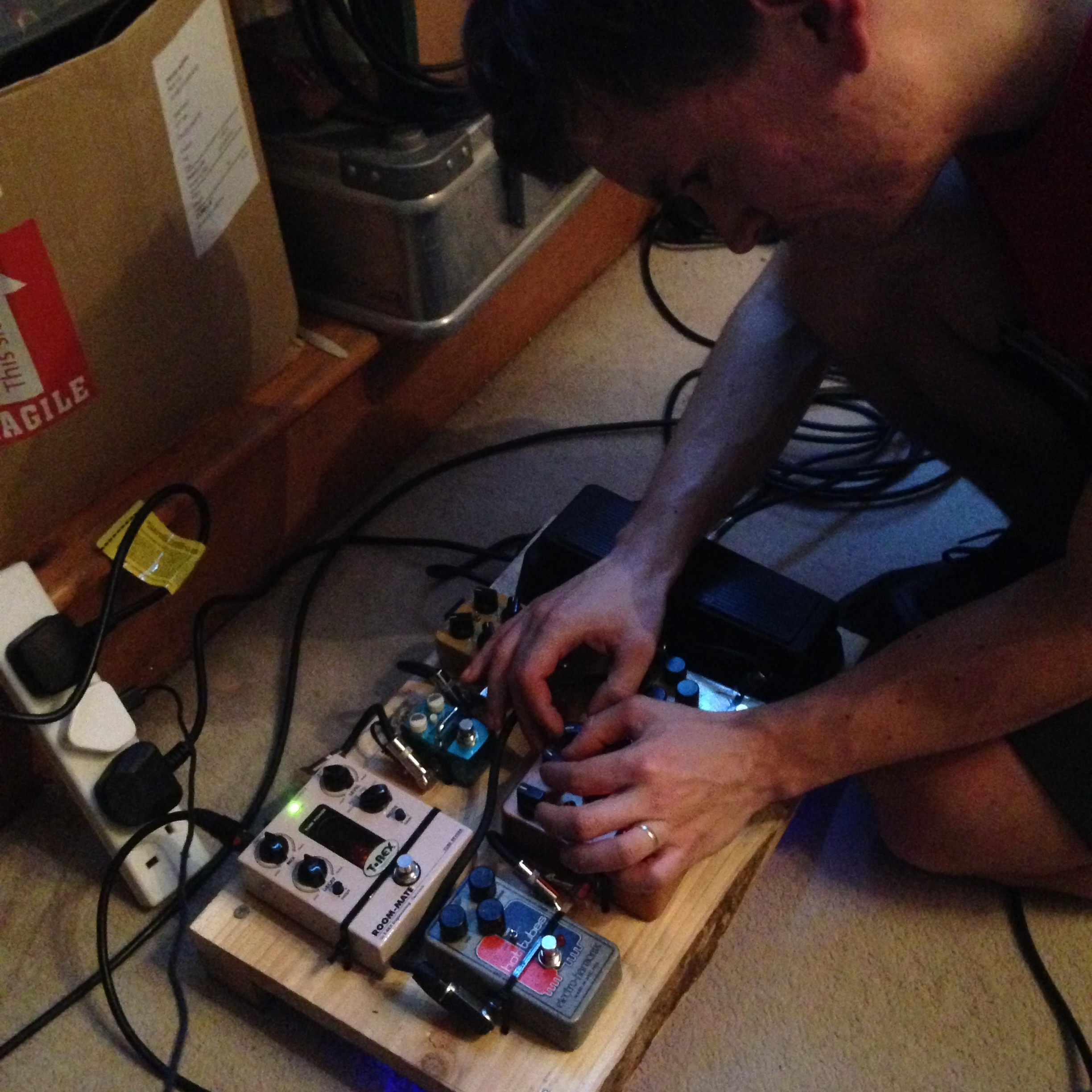 James was able to perform all the pedal actions live when re-tracking