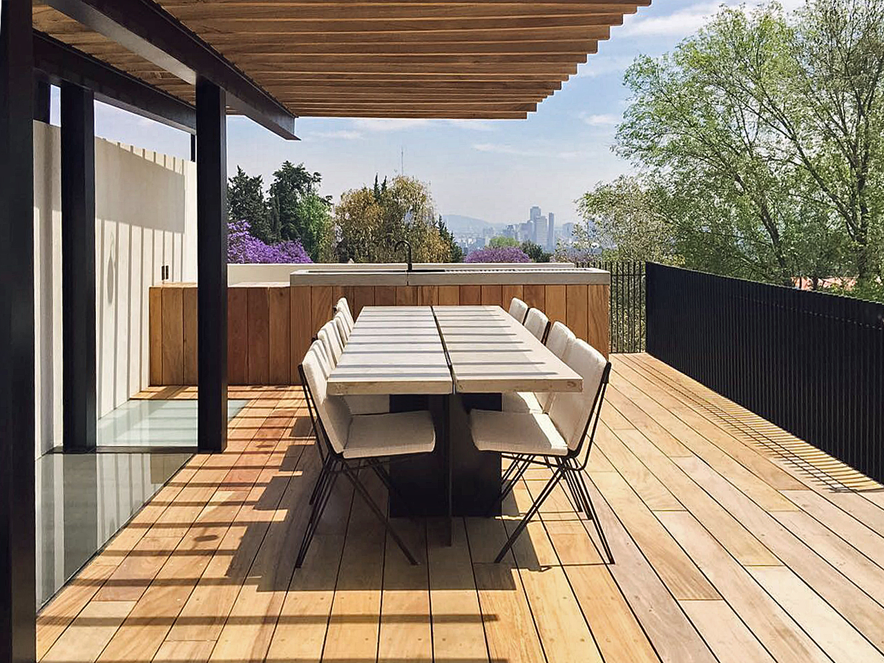 Town House Mexico City_Rooftop Terrace_Marc Merckx Interiors