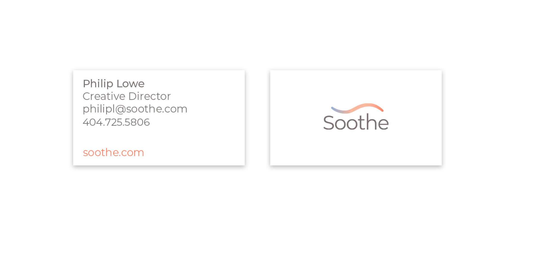 Soothe Business Cards