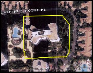 An aerial view of Mr. Chen's condo in Aventura, Fla.