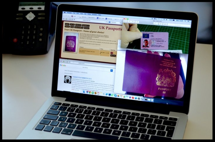 Fake UK passports are driving licenses are for sale on various dark web marketplacesIBTimes UK