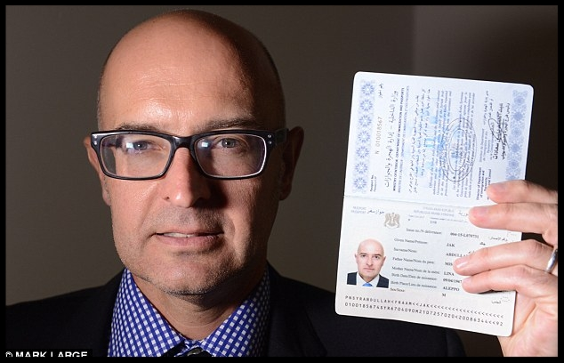 Fake identity: The documents are all genuinely made - having been plundered by Syrian opposition forces including ISIS - as they overran offices held by Syrian President Bashar Al-Assad