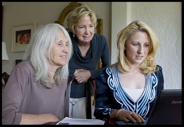 Grandmother: Sara Olson, left, works with her daughter Leila Peterson, right,The former radical was part of the Symbionese Liberation Army who kidnapped Patty Hearst