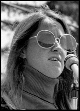 Olson pictured as a student radical in the Sixties