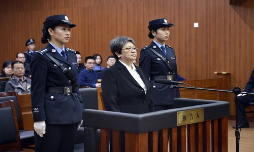 Yang Xiuzhu, number one on the red notice list, is sentenced to eight years in jail.  Photo: VCG