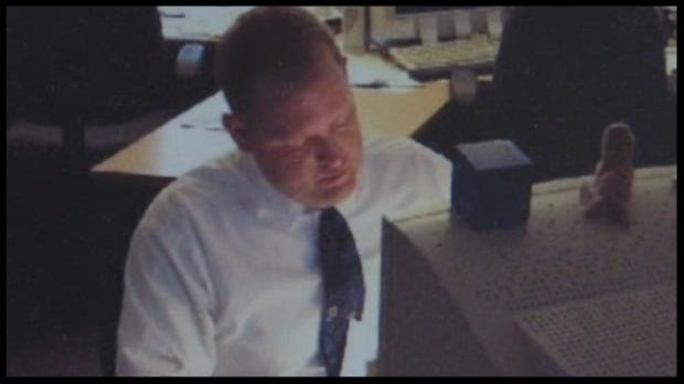 Michael De Bourcier is seen at his office in the morning of July 6, 2001.