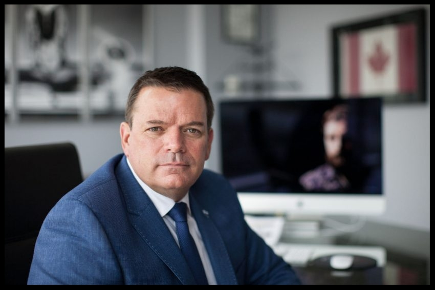 Private investigator David Perry, seen in his office at Investigative Solutions Network Inc., helped Dylan Reibling in his search for the truth about Michael De Bourcier.