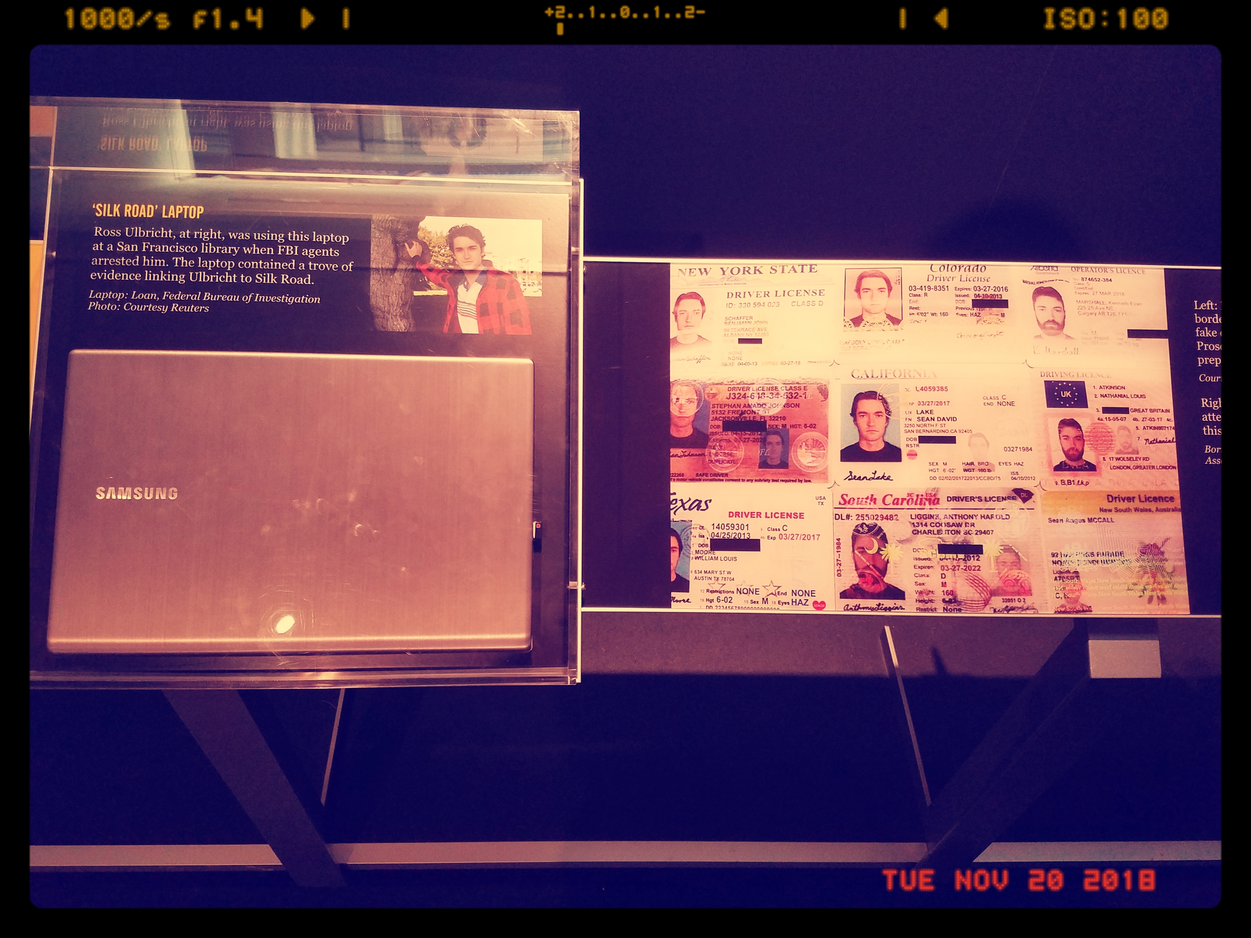 Ross Ulbricht's (Founder of Silk Road) lap top on Exhibit In Newseum in D.C.