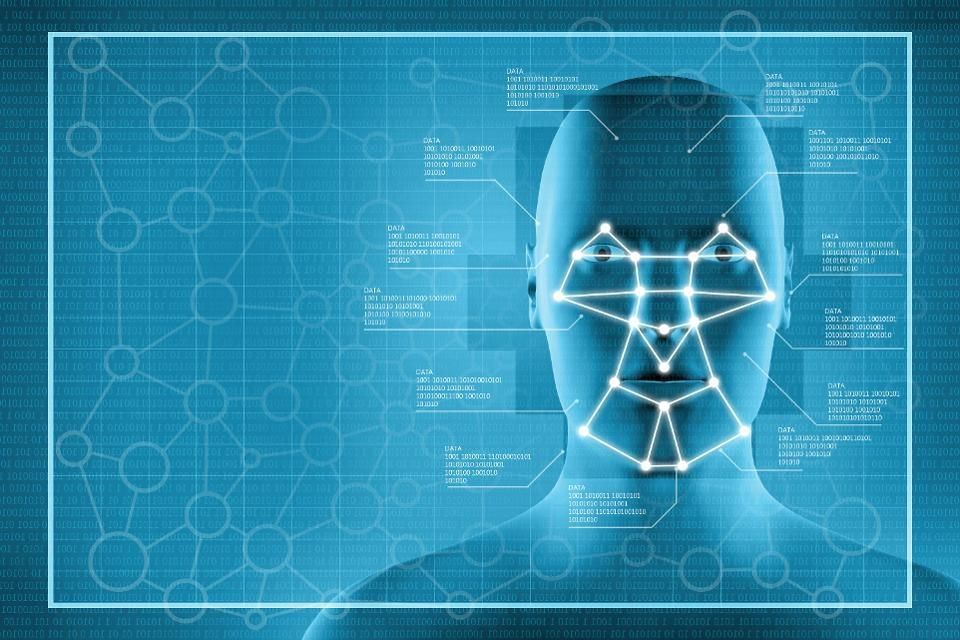 A company that operates facial recognition systems in China has exposed the personal information of 2.5 million people after leaving a database unprotected. Facial recognition system showing a blue interface with a human head and biometrics data, with a grid of relevant points connected to facial features: used for surveillance, privacy control and identity tracking (Big Brother).