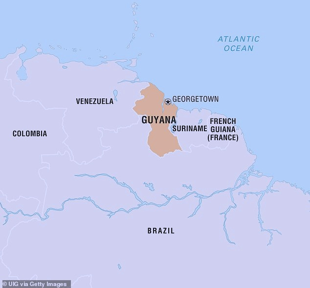 The tiny country, is the size of Oregon and borders Venezuela and Brazil, has a population of less than 800,000. It's the first time anyone has been extradited to the U.S. from there