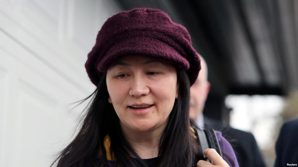 FILE - Huawei Technologies Chief Financial Officer Meng Wanzhou arrives at her home after her court appearance in Vancouver, British Columbia, March 6, 2019.