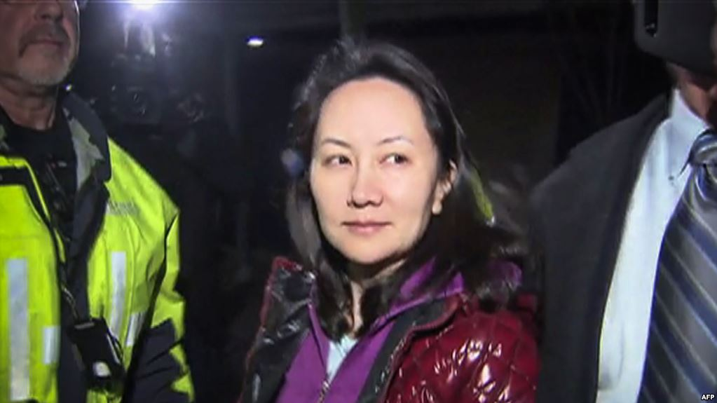 FILE - Huawei Technologies Chief Financial Officer Meng Wanzhou is pictured after a bail hearing at British Columbia Superior Courts in Vancouver, B.C., Dec. 11, 2018.